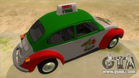 Volkswagen Beetle Pizza for GTA San Andreas right view