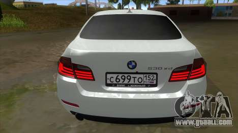 BMW 530XD F10 for GTA San Andreas right view