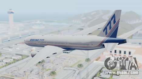 Boeing 777-200 Prototype for GTA San Andreas right view