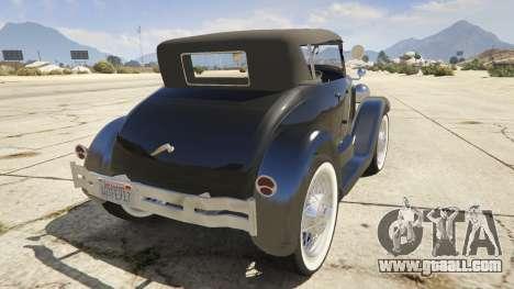 GTA 5 Ford T 1927 Roadster rear left side view