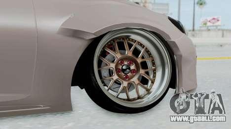 Toyota Mark X Slammed for GTA San Andreas back left view
