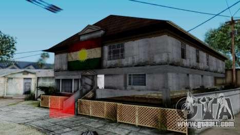 New CJ House with Kurdish Flag for GTA San Andreas