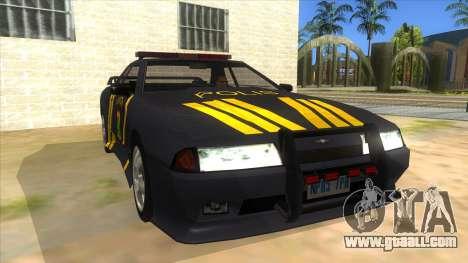 Elegy NR32 Police Edition Grey Patrol for GTA San Andreas back view