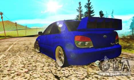Subaru Impreza WRX STI Lisa for GTA San Andreas right view
