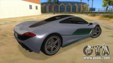 GTA 5 Progen T20 Lights version for GTA San Andreas right view