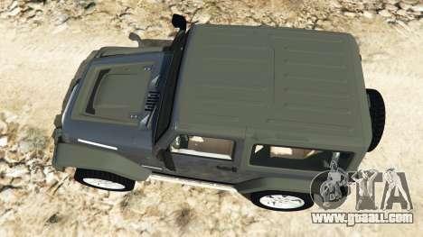 GTA 5 Jeep Wrangler 2012 v1.1 back view