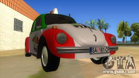 Volkswagen Beetle Pizza for GTA San Andreas back view