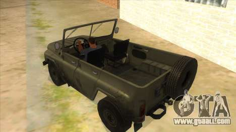 UAZ-469 Green for GTA San Andreas back left view