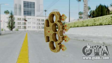 The Player Knuckle Dusters from Ill GG Part 2 for GTA San Andreas