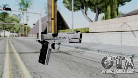 For-h Gangsta13 Pistol for GTA San Andreas