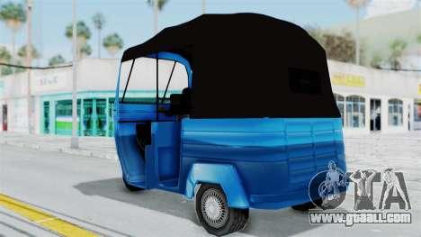 Sri Lanka Three Wheeler (Rickshow) for GTA San Andreas left view