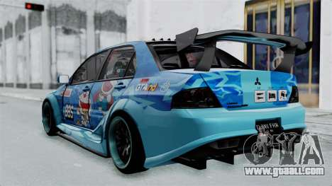 Mitsubishi Lancer Evolution IX MR Edition v2 for GTA San Andreas left view