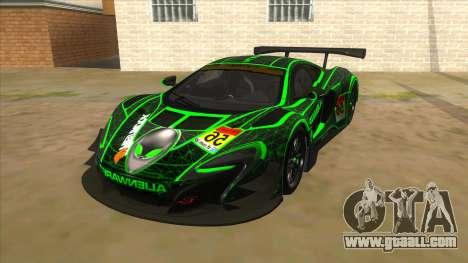 McLaren 650S GT3 Alien PJ for GTA San Andreas