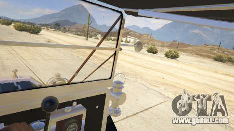 GTA 5 Ford T 1910 Passenger Open Touring Car rear right side view