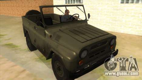 UAZ-469 Green for GTA San Andreas back view