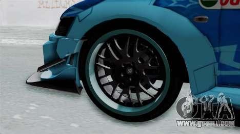 Mitsubishi Lancer Evolution IX MR Edition v2 for GTA San Andreas back left view