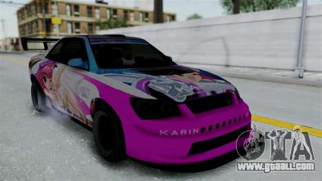 GTA 5 Karin Sultan RS Drift Big Spoiler PJ for GTA San Andreas wheels