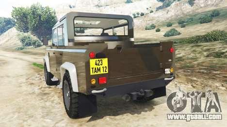 GTA 5 Land Rover Defender 110 Pickup rear left side view