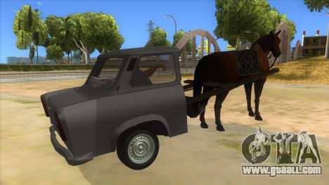 Trabant with Horse for GTA San Andreas right view