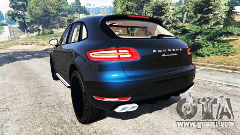 GTA 5 Porsche Macan Turbo 2015 rear left side view