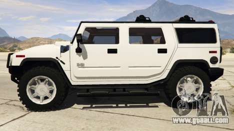 GTA 5 Hummer H2 left side view