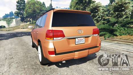 GTA 5 Toyota Land Cruiser 200 2016 rear left side view