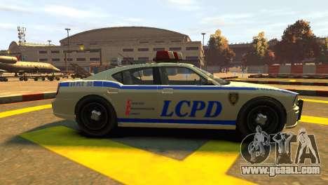 Bravado Buffalo Police Patrol [original wheels] for GTA 4 left view