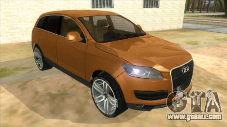 Audi Q7 for GTA San Andreas back view