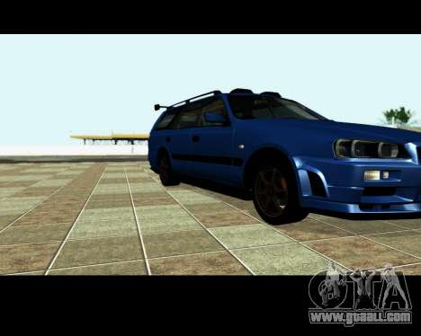 Nissan Stagea Tunable for GTA San Andreas wheels