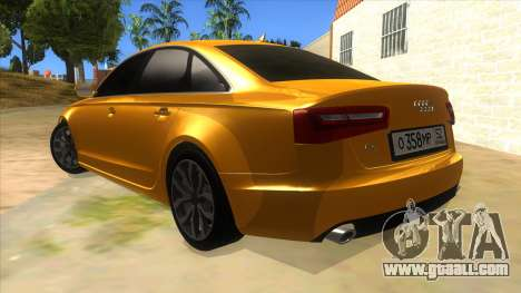 Audi A6 2012 for GTA San Andreas back left view