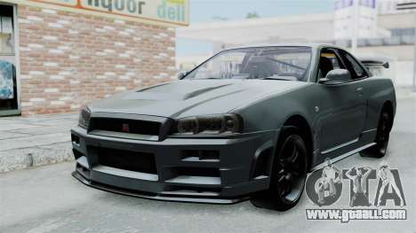 Nissan Skyline GT-R R34 2002 F&F4 for GTA San Andreas left view