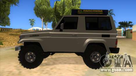 Toyota Machito 4X4 for GTA San Andreas left view