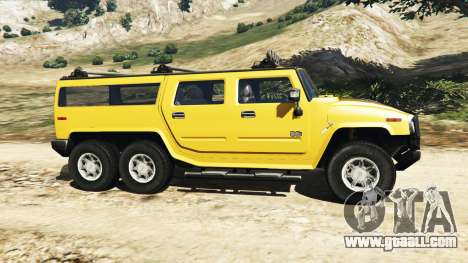 GTA 5 Hummer H2 6x6 v2.0 left side view