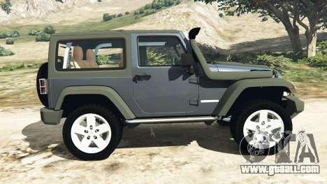 GTA 5 Jeep Wrangler 2012 v1.1 left side view