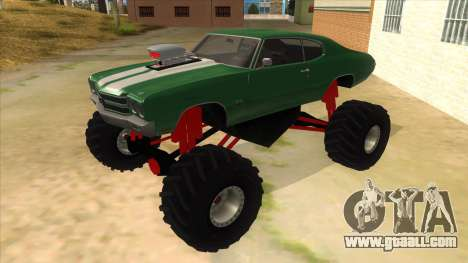 1970 Chevrolet Chevelle SS Monster Truck for GTA San Andreas
