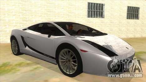Lamborghini Gallardo 2012 Edition for GTA San Andreas back view