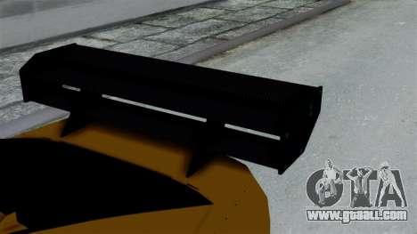 GTA 5 Karin Sultan RS Drift Big Spoiler PJ for GTA San Andreas right view