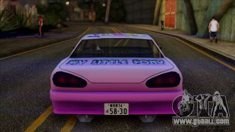 Винил Elegy My Little Pony for GTA San Andreas back left view