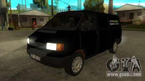 VW T4 Mrtvačka wheels for GTA San Andreas