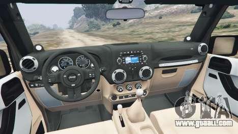 GTA 5 Jeep Wrangler 2012 v1.1 rear right side view