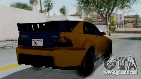 GTA 5 Karin Sultan RS Rally PJ for GTA San Andreas left view