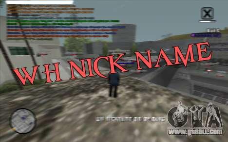WH Nick Name for GTA San Andreas