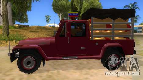 Jeep Pick Up Stylo Colombia for GTA San Andreas left view