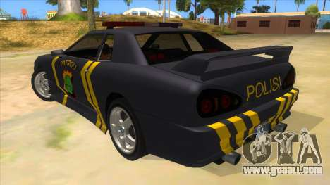 Elegy NR32 Police Edition Grey Patrol for GTA San Andreas back left view