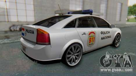 Opel Vectra 2005 Policia for GTA San Andreas back left view