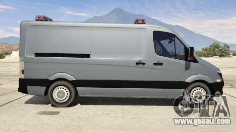GTA 5 Mercedes-Benz Sprinter Worker Van left side view