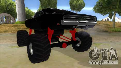 1969 Dodge Charger Monster Truck for GTA San Andreas back left view