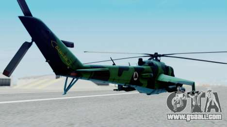 Mi-24V Afghan Air Force 112 for GTA San Andreas left view