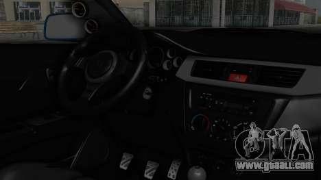 Mitsubishi Lancer Evolution IX MR Edition v2 for GTA San Andreas right view