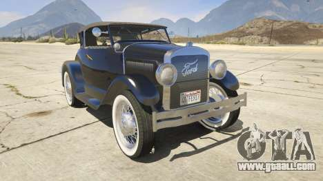 Ford T 1927 Roadster for GTA 5